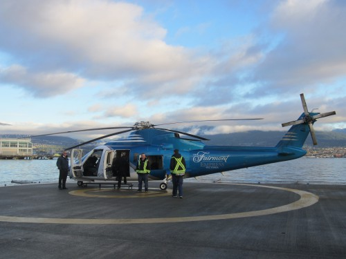 Boarding at Vancouver heliport. VFS Photo.