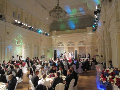 ERF banquet in the historic GUM (State Department Store) on Red Square. — in Moscow, Moscow City, Russia. VFS Photo.