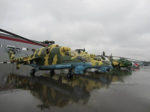 Mil static displays (2), Mil plant, Moscow. — in Moscow, Moscow City, Russia. VFS Photo.