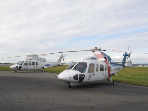 S-76A for charters and S-76C air ambulance. VFS Photo.