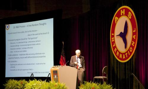 Nikolsky Lecture by Dr. Bob Ormiston. VFS Photo.