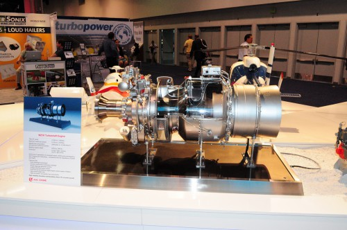 AVIC WZ16 engine mock-up. VFS Photo.