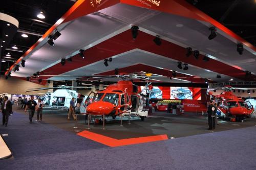 AgustaWestland family display. VFS Photo.