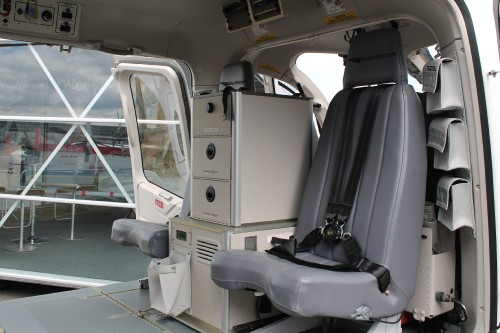 Bell displayed a 429 for Czech customer King's Casino (shown) as well as one of the first 505s in the UK. Bell 429 cabin. Photo by Ian Frain.