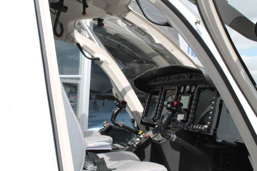 Bell displayed a 429 for Czech customer King's Casino (shown) as well as one of the first 505s in the UK. Bell 429 cockpit. Photo by Ian Frain.