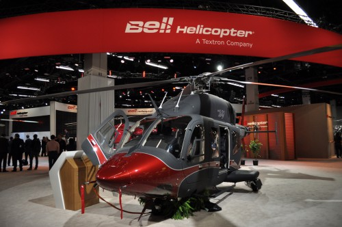 Bell 429WLG with wheels. VFS Photo.