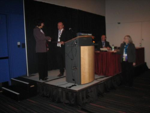 Ian Cheeseman Award. VFS Photo.
