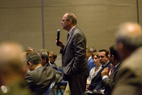 Question to panel (R. Ostovich). VFS Photo.