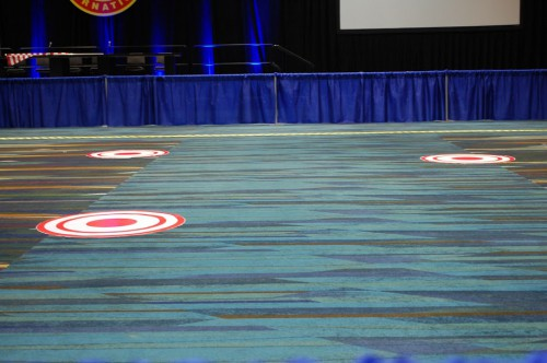The 3 moveable targets. VFS Photo.