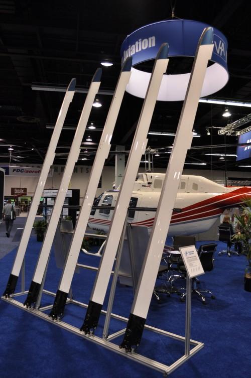 Van Horn Aviation composite blades. VFS Photo.