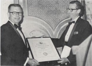 Captain William J. Kossler Award, 1973 at Forum-29 won by Ralph P. Pass for application of the heavy lift helicopter for aerial delivery of concrete during the construction of the William P. Preston Lane Jr. Memorial Bridge.