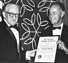 Honorary Fellowships 1962 at Forum-18 awardee Don Ryan Mockler, Director, Vertical Lift Aircraft Council, Aerospace Industries Association.