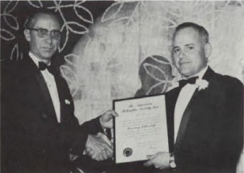 At Forum-19, 1963, Honorary Fellowship was awarded to Robert Strange, Rotary Wing Flight Test, Naval Air Test Center, Patuxent River, Md. for his contributions to the Society.
