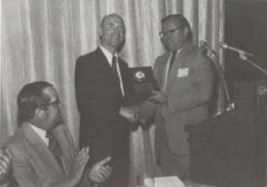 1978 Membership Increase Contest won by Southwest AHS Chapter at Forum-34 and presented to Walter Sonneborn for greatest Chapter growth.