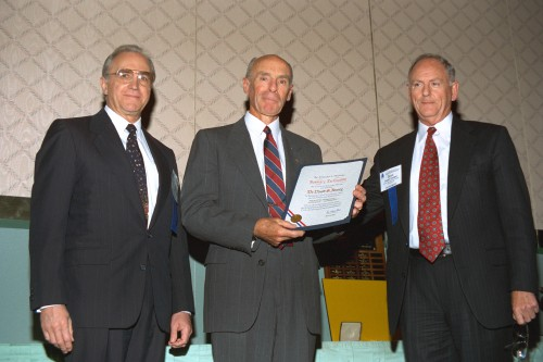 "The Alexander A. Nikolsky Honorary Lectureship, 1996 at Forum 52, awarded to Dr. David S. Jenney, formerly of Sikorsky Aircraft Corp and then Editor-in-Chief of the Journal of the American Helicopter Society.  His Nikolsky Lecture was titled, ""Helicopter Technology: A Look Back... And Forward."" Forum 52 Awards Banquet at the Sheraton Washington Hotel, Washington, D.C., June 5, 1996. VFS photo. CC BY-SA 4.0."