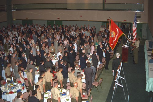 All attendees at Annual Forum 52 Awards, 1996, standing to pay honor! Forum 52 Awards Banquet at the Sheraton Washington Hotel, Washington, D.C., June 5, 1996. VFS photo. CC BY-SA 4.0.