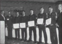 Captain William J. Kossler, USCG Award this year won by crew members of the Canadian Air Force's 413 Squadron, Labrador 303, which performed the successful rescue of the crew of the 35-foot sailboat, Alexis Le Trotteur.   The award presented at annual Forum 53, April 29-May 1, 1997, Virginia Beach, Virginia USA.
