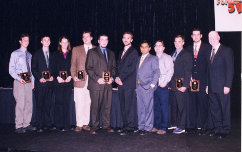 Students from various institutions awarded VFF Scholarships at annual Forum 59 Awards, 2003.    Forum 59, May 6-8, 2003 Phoenix, Arizona USA