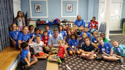 In August 2015, Professor Roberto Celi from the University of Maryland delights students aged 5 to 14 with the science of helicopters and his professional career at Ascendly Engineering Camp, a summer STEM program held in the metropolitan DC area.