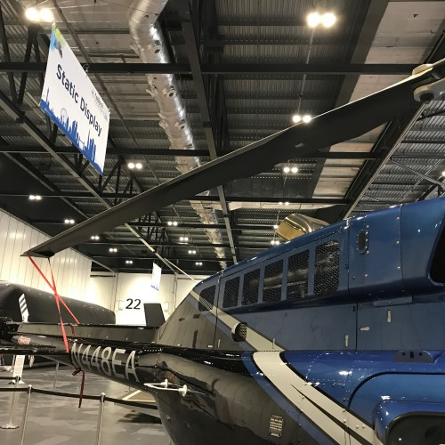 Bell 206L-4 LongRanger IV (N448EA) at Helitech 2017.  Image donated to VFS (CC BY-SA 4.0)