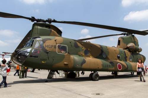 JGSDF CH-47JA, 1st Transportation Helicopter Group - Photo from Flickr by Ken H (image reduced in size from original) Source: https://www.flickr.com/photos/fireballsg72/6976955094/