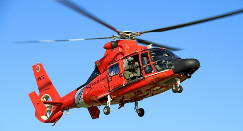 U.S. Coast Guard reaching 1.5 million flight hours with the service fleet of MH-65 Dolphin patrol and search-and-rescue helicopters.