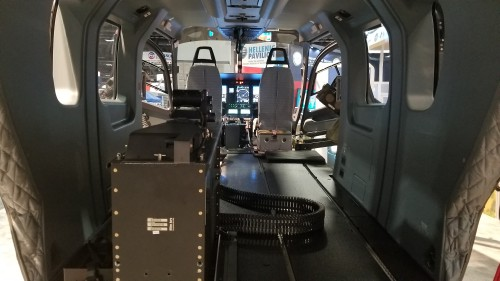 Rear cabin of the proposed Airbus H145M armed and upgraded version of the US Army Lakota UH-72A. (Oct. 10 VFS photo. CC-BY-SA 4.0)
