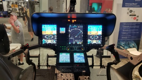 Cockpit of the proposed Airbus H145M armed and upgraded version of the US Army Lakota UH-72A. (Oct. 10 VFS photo. CC-BY-SA 4.0)
