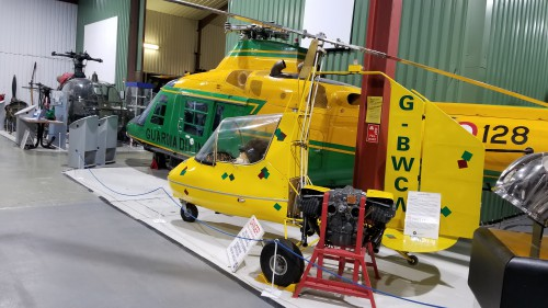The Barnett J4B was a small gyroplane marketed in the US by Barnett Rotorcraft for homebuilding. VFS photo taken at the Helicopter Museum, Weston-super-Mare, UK, Nov. 15, 2018. (CC-BY-SA 4.0)