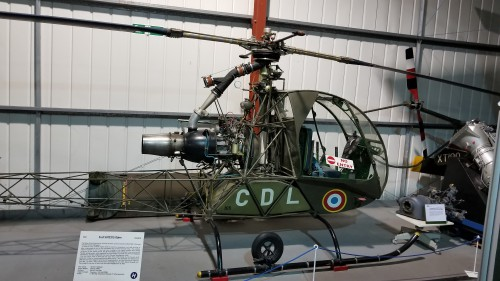 Sud-Ouest SO.1221 Djinn (c/n 1058). VFS photo taken at the Helicopter Museum, Weston-super-Mare, UK, Nov. 15, 2018. (CC-BY-SA 4.0)
