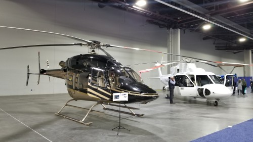 Bell 427 for sale at Heli-Expo 2019. (VFS photo taken on March 5, 2019. CC-BY-SA 4.0).
