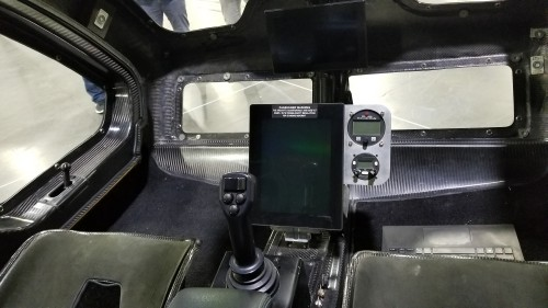 The SureFly electric VTOL cockpit on March 7, 2019. The first prototype was on display at Heli-Expo 2019. (VFS photo CC-BY-SA 4.0)