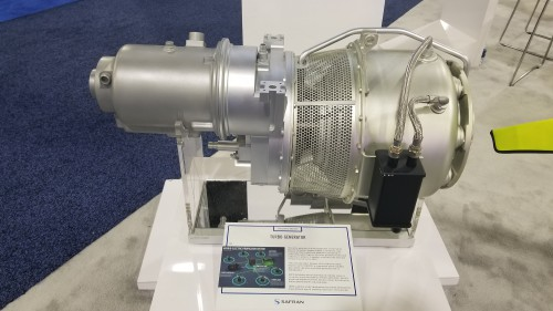 Safran turbogenerator on display at Heli-Expo 2019. (VFS photo taken on March 7, 2019. CC-BY-SA 4.0)