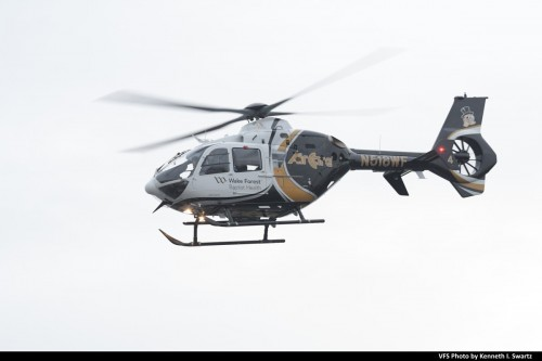 Airbus EC135 P2+ (N518WF, MSN 0713) AirCare Wake Forest Baptist Health Metro Avn @ Heli-Expo 2019, Atlanta, Georgia, March 6, 2019. (VFS photo by Kenneth I. Swartz. CC-BY-SA 4.0)