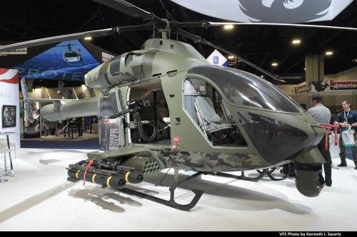 MD969 Mockup @ Heli-Expo 2019, Atlanta, Georgia, March 8, 2019. MD Helicopters showed a MD 902 as a mockup for their new MD 969 Combat Attack Helicopter. (VFS photo by Kenneth I. Swartz. CC-BY-SA 4.0)