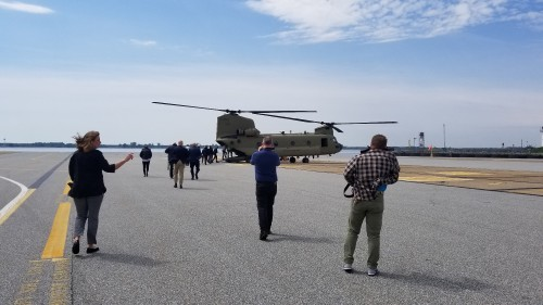After Forum 75, The Boeing Company gave a small group of journalists a flight in and tour of a US Army CH-47F. VFS photo taken at the Boeing Chinook factory in Ridley Park, Pennsylvania, near Philadelphia. (VFS photo May 17, 2019. CC-BY-SA 4.0)