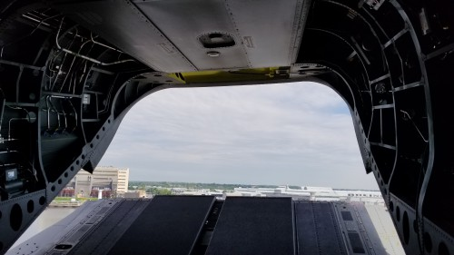 After Forum 75, The Boeing Company gave a small group of journalists a flight in and tour of a US Army CH-47F. VFS photo taken of the Boeing Chinook factory in Ridley Park, Pennsylvania, near Philadelphia. (VFS photo May 17, 2019. CC-BY-SA 4.0)