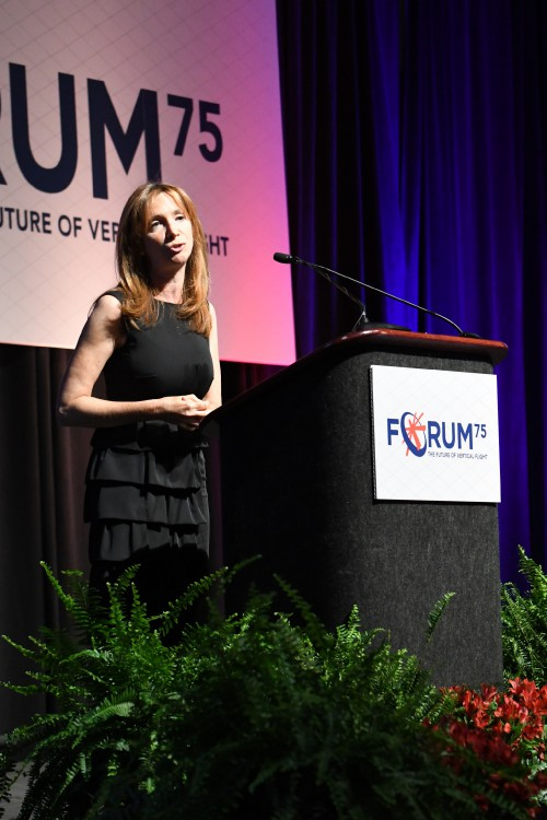 Gwen Lighter, Forum 75 Opening General Session, Tuesday afternoon May 14, 2019, (VFS photo by Gary Vincent. CC-BY-SA 4.0)