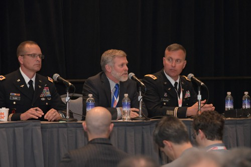 "Dan Bailey, US Army, in Forum 75 Special Session 1: ""US Army's Perspective of Future Vertical Lift"" on Monday, May 13, 2019. (VFS photo by Kenneth I. Swartz. CC-BY-SA 4.0)"