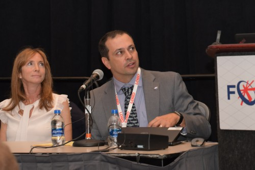 "Chris Silva, NASA Revolutionary Vertical Lift Technology (RVLT), in Forum 75 Special Session 8: ""Challenges in Electric VTOL"" on Thursday, May 16, 2019. (VFS photo by Kenneth I. Swartz. CC-BY-SA 4.0)"