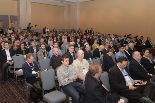 """Audience, in Forum 75 Special Session 8: """"Challenges in Electric VTOL"""" on Thursday, May 16, 2019. (VFS photo by Kenneth I. Swartz. CC-BY-SA 4.0)"""