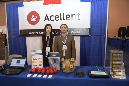 Acellent exhibit booth at Forum 75 on May 15, 2019. (VFS photo by Kenneth I. Swartz. CC-BY-SA 4.0)