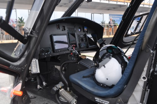 Close up of H125M cockpit on static display at the Paris Airshow. (VFS photo taken June 17, 2019 by VFS Staff)