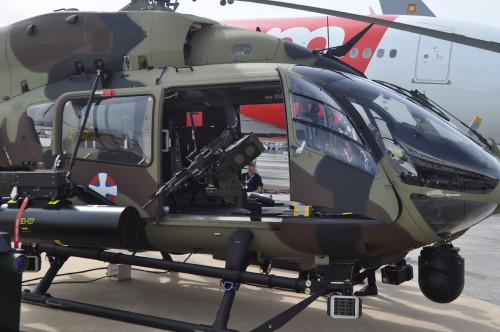 Gunner station on H145M on static display at the Paris Airshow. (VFS photo taken June 17, 2019 by VFS Staff)