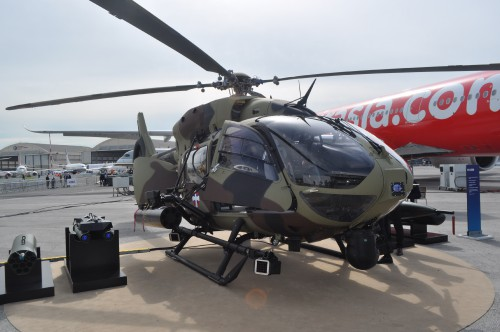 Front shot of H145M on static display at the Paris Airshow. (VFS photo taken June 17, 2019 by VFS Staff)