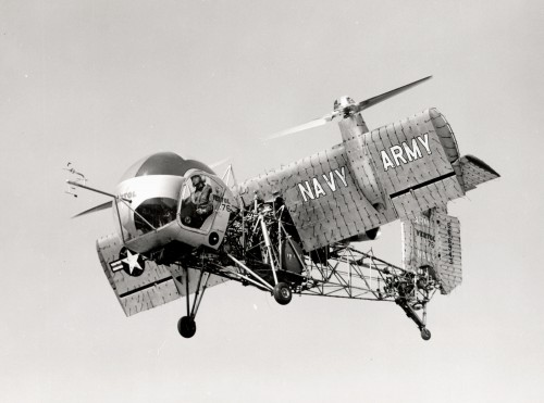 Photo courtesy of Roger Connor, Smithsonian Institute. Source: https://airandspace.si.edu/collection-objects/vertol-vz-2-model-76