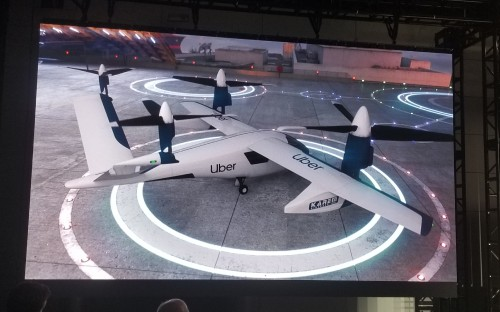 Karem Aircraft provided updates on their Butterfly eVTOL at Uber Elevate Summit 2019. Uber held its third annual summit on June 11-12 at the Ronald Reagan Building and International Trade Center in Washington, DC. For more information, go to www.evtol.news/uber (VFS staff photo taken June 11, 2019. CC-BY-SA 4.0)