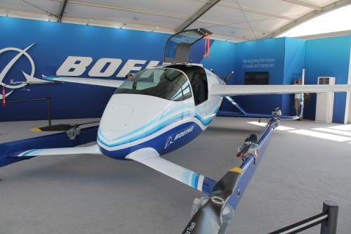 Boeing's Passenger Air Vehicle (PAV) from Aurora was on display at the Paris Air Show, and VFS staff got to speak one-on-one with Aurora CEO, John Langford. (VFS photo taken June 17, 2019 by Ian Frain. CC-BY-SA 4.0)