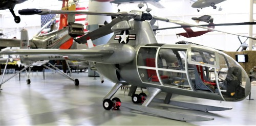 The McDonnell XV-1 is an experimental compound gyroplane developed for a joint research program between the United States Air Force and the United States Army to explore technologies to develop an aircraft that could take off and land like a helicopter but fly at faster airspeeds, similar to conventional airplane.  Nice overview! Photo taken at Fort Rucker Army Aviation Museum by Gene Munson.