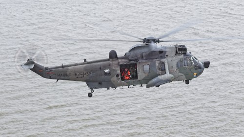 "German Naval Aviation Wing MFG 5 Sea King. These photos of Marinefliegergeschwader (MFG) 5 in action accompany the article ""German Navy Helicopter Fleet Still Going Strong,"" by Anno Gravemaker, in the Vertiflite Sep/Oct issue. Photo taken June 19, 2019 by Anno Gravemaker CC BY-NC-SA 4.0."